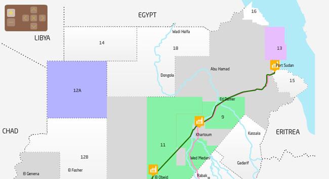 Sudan Hydrocarbone E & P License Blocks