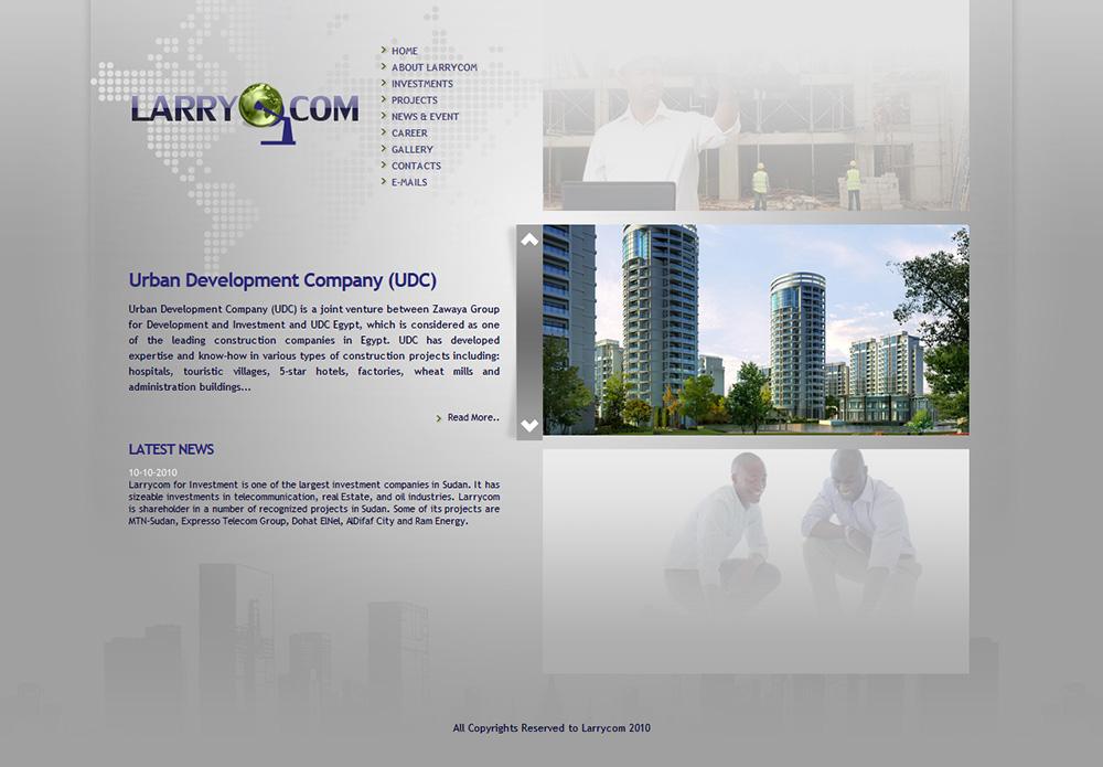 Larrycom For Investment - GraphiX Design   Best Web Design Sudan