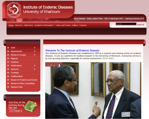 University Of Khartoum, The Institute Of Endemic Diseases (IEND)